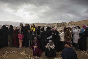 Refugiados sírios na cidade de Arsal. Foto: Acnur/M.Hofer
