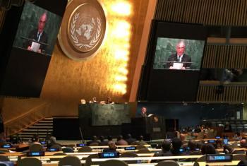 Rui Machete em discurso na Cimeira sobre o Desenvolvimento Sustentável. Foto: Rádio ONU/Denise Costa