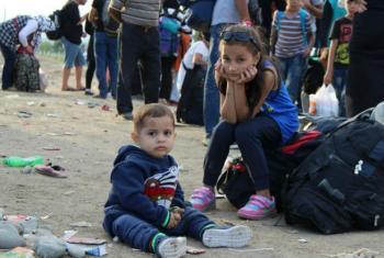 Crianças forçadas a fugir de conflitos. Foto: Unicef