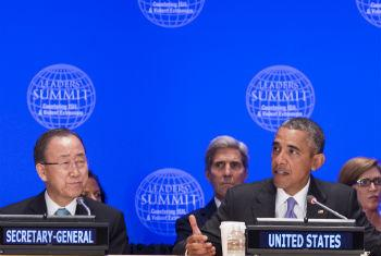 Ban Ki-moon e Barack Obama. Foto: ONU/Eskinder Debebe