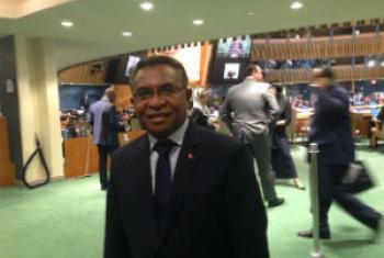Rui Maria de Araújo na Assembleia Geral. Foto: Rádio ONU