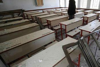 Escolas foram danificadas em ataques. Foto: Unicef/NYHQ2015-1130/Mahmoud