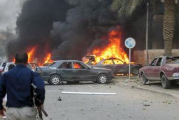 Atentado terrorista no Iraque. Imagem: IRIN