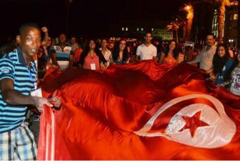 O prémio distingue o trabalho da aliança na transição para a democracia.Imagem: Escritório de Direitos Humanos na Tunísia.
