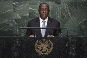 Manuel Vicente no seu discurso na70ª sessão da Assembleia Geral da ONU. Foto ONU/Cia Pak