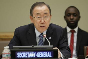 O secretário-geral, Ban Ki-moon. Foto: ONU/Paulo Filgueiras