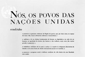 Carta das Nações Unidas. Foto: ONU