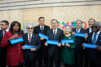 No discurso, Ban citou vários desafios globais, entre eles a fome, a pobreza, o desemprego e a mudança climática.Foto: FAO/Giuseppe Carotenuto