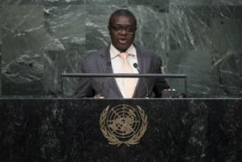 Embaixador da Guiné-Bissau junto às Nações Unidas, João Soares da Gama. Foto: ONU/Kim Haughton.