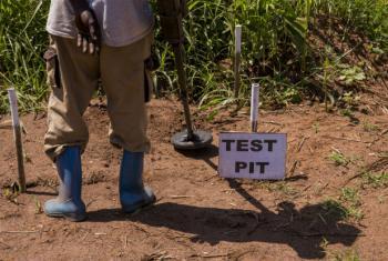 Projeto de prevenção e segurança sobre minas. Foto: ONU/JC McIlwaine