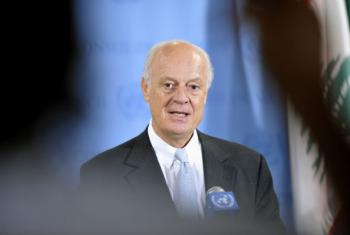 Staffan de Mistura quer garantir início de discussões para resolver a crise síria. Foto: ONU/Mark Garten