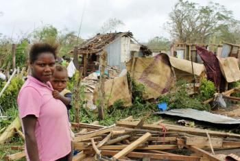 O fenómeno climático aumenta o número de catástrofes naturais, como esta no Vanuatu. Imagem: UNICEF Pacific
