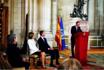 Secretário-geral da ONU, Ban Ki-moon, em cerimônia que marcou os 60 anos da entrada da Espanha nas Nações Unidas. Foto: ONU/Porta-voz.