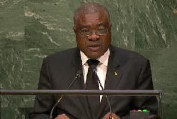 Manuel Salvador dos Ramos durante discurso