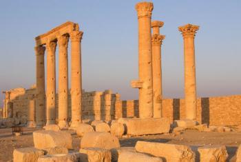 Site arqueológico em Palmira, Síria. Foto: Unesco/F. Bandarin