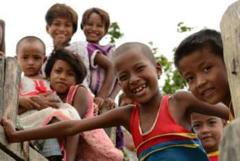 Crianças em Mianmar. Foto: Unicef Mianmar