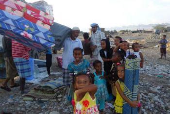 Distribuição da ajuda na província de Shabwah, Iémen. Foto: Acnur