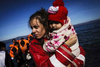 Chegada de refugiados à ilha de Lesvos, Grécia. Foto: Acnur/Achilleas Zavallis