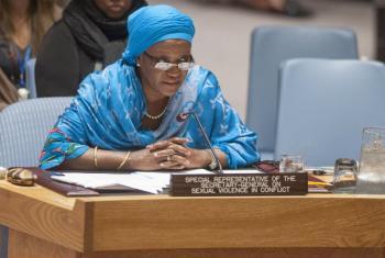 Zainab Bangura no Conselho de Segurança. Foto: ONU/Cia Pak
