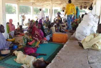 Cenário complexo de pessoas desalojadas. Foto: Acnur/D.Mbaiorem.