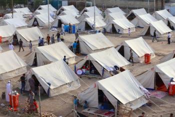 Campo de Refugiados de Al-Jamea, em Bagdad. Foto: Unicef/Iraque.
