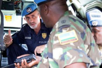 Luís Carrilho é comissário da Polícia da Missão das Nações Unidas na República Centro-Africana.Foto: ONU/Nektarios Markogiannis