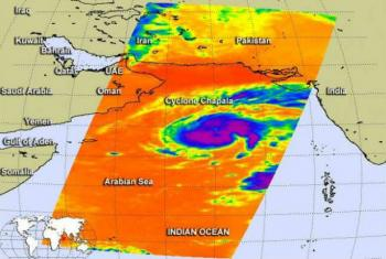 A precipitação pode ser equivalente a que ocorreu num período entre seis e 10 anos.Imagem: NASA