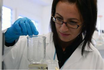 """Irina Bokova diz que a ciência é """"uma força para transformação positiva e um multiplicador de desenvolvimento"""".Foto: IAEA/Dean Calma"""
