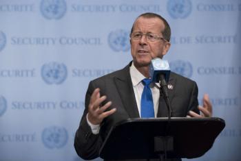 Martin Kobler disse que o povo líbio merece o melhor e apoia o acordo. Foto: ONU/Kim Haughton