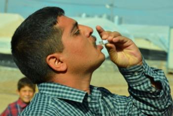 Vacina contra a pólio. Foto: OMS