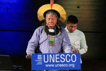 Os povos indígenas precisam de apoio para reforçar a capacidade de resiliência contra a mudança climática.Foto: Unesco/P. Chiang-Joo