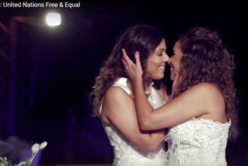 Cenas do casamento de Malu e Daniela Mercury estão em novo vídeo de campanha da ONU