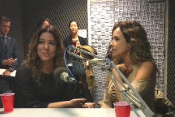 Malu Verçosa Mercury e Daniela Mercury nos estúdios da Rádio ONU. Foto: Rádio ONU