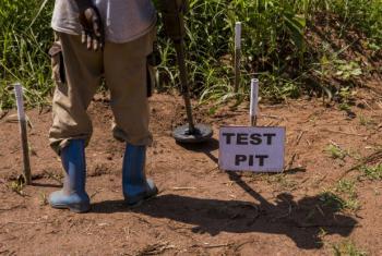 Limpeza de minas no Sudão do Sul. Foto: ONU/JC McIlwaine