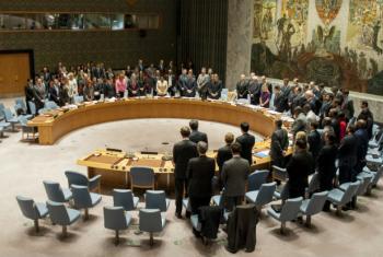 Na segunda-feira, Conselho de Segurança fez um minuto de silêncio pelas vítimas em Paris e Beirute. Foto: ONU/Cia Pak