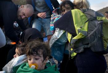 Migrantes e refugiados chegando à ilha de Lesbos, na Grécia. Foto: Unicef/ Ashley Gilbertson VII