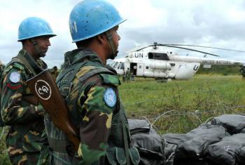 Soldados de paz da Missão da ONU no Sudão do Sul, Unmiss, em Likuangole Payam, estado de Jonglei. Foto: Unmiss