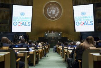 Vista da Assembleia Geral da ONU durante a Cúpula do Desenvolvimento Sustentável. Foto: ONU/Loey Felipe