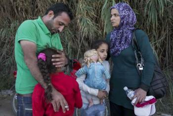 Família de refugiados sírios. Foto: Acnur/I.Prickett