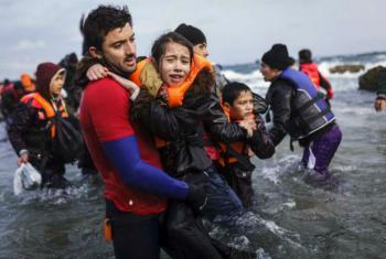 Chegada de migrantes a Lesbos. Foto: Acnur/A. Zavallis