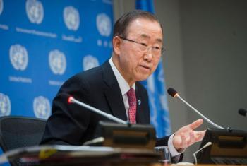 Secretário-geral da ONU Ban Ki-moon. Foto: ONU/Amanda Voisard