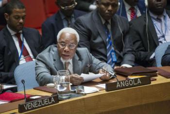 Ismael Martins em discurso no Conselho de Segurança. Foto: ONU/Amanda Voisard
