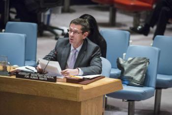Ivan Šimonović em discurso no Conselho de Segurança. Foto: ONU/Amanda Voisard