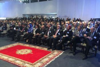 Participantes do evento de assinatura do Acordo Político da Líbia, em Skhirat, Morrocos. Foto: UNSMIL