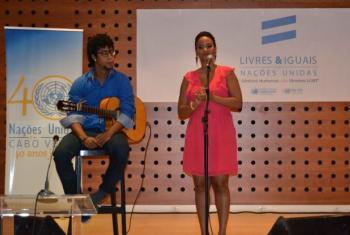 Mayra Andrade desencuraja punição da homossexualidade. Foto: ONU/Cabo Verde.