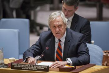 Nicholas Haysom no Conselho de Segurança, nesta segunda-feira. Foto: ONU/Rick Bajornas