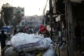 Entrega de ajuda humanitária na Síria. Foto: Unicef/Amer Al Shami
