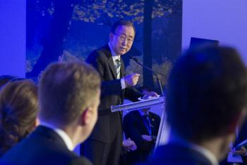 Ban Ki-moon em encontro na COP21. Foto: ONU/Eskinder Debebe