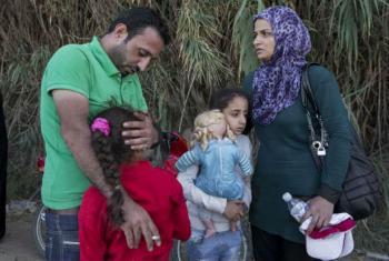 Família de refugiados sírios. Foto: Acnur/I. Prickett (arquivo)
