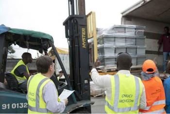 UNOCI forneceu apoio logístico para apoiar o Comitê Eleitoral Independente. Foto: Unoci